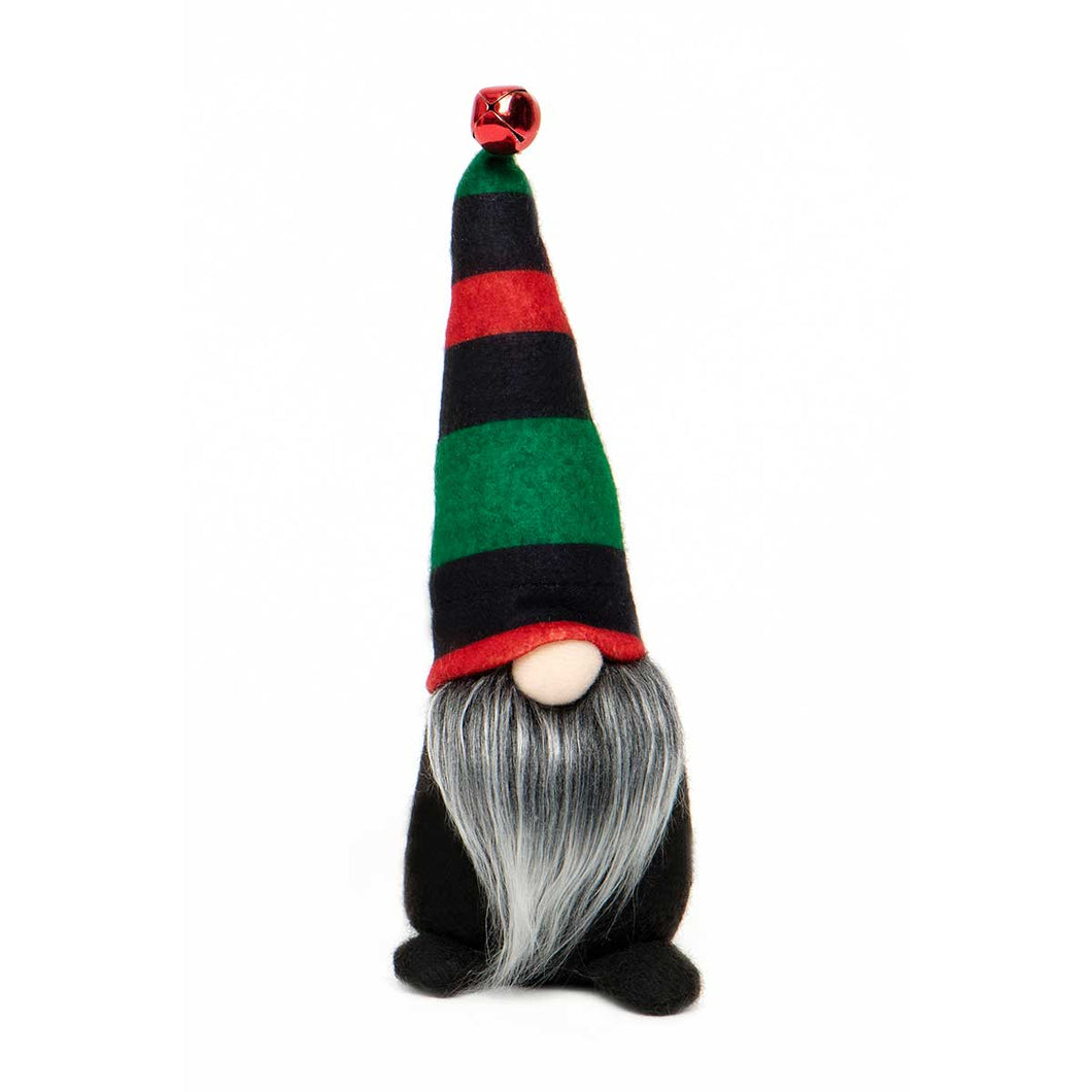 Gnome with Red and Green Stripe Hat