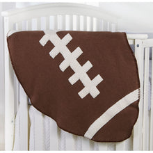 Load image into Gallery viewer, Football Sherpa Blanket