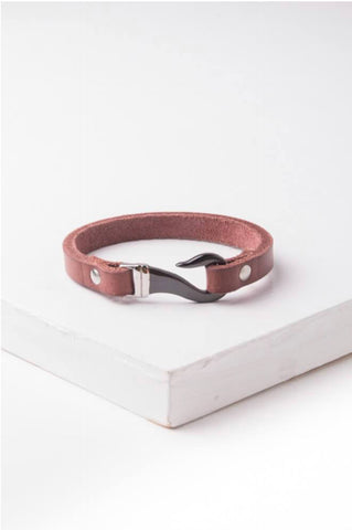 Loni Leather Hook Bracelet