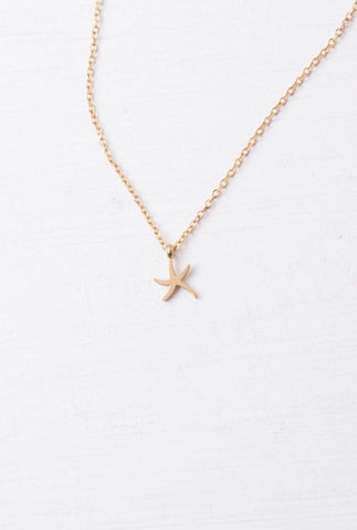Mae Gold Starfish Pendant Necklace