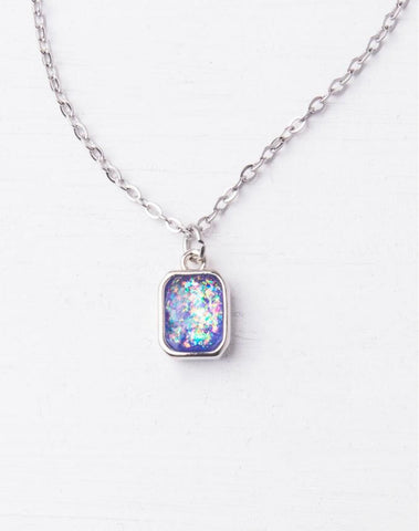 Lila Silver and Purple Necklace