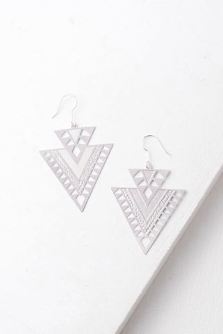 CiCi Silver Geometric Earrings