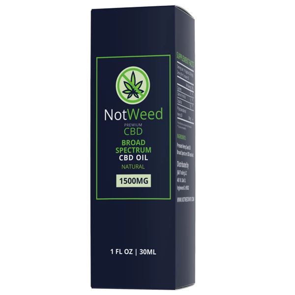 NotWeed CBD Oil 1500mg Natural