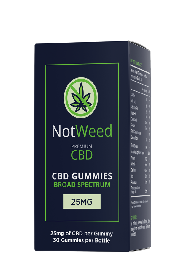 NotWeed CBD-Infused Gummy 30 Count 750mg
