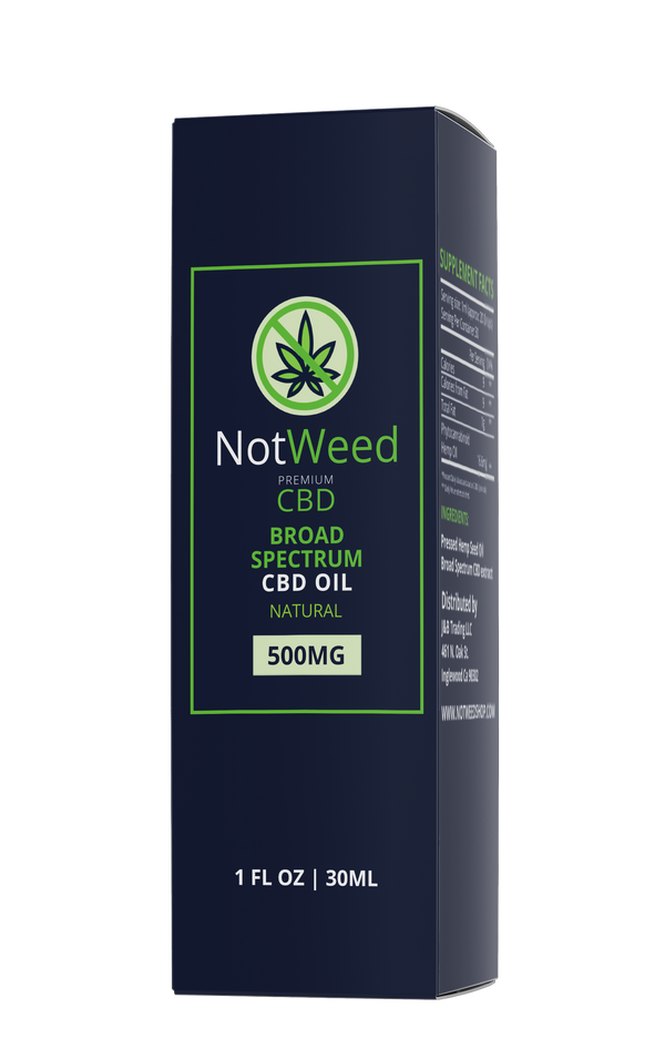 NotWeed CBD Oil 500mg Natural