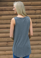 Charcoal Leopard Pocket Tank