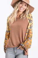 'Back Road' Floral Long Sleeve Top