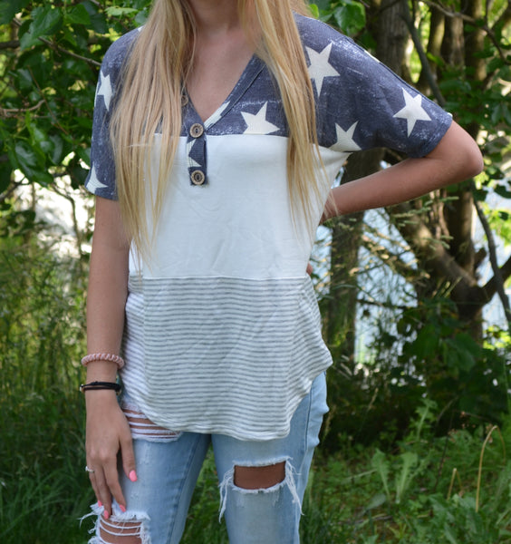 Stars & Stripes Short Sleeve Top
