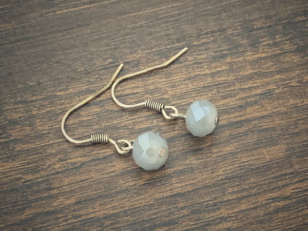 Gray Minimal Earrings