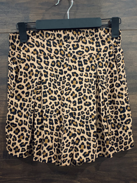 High Waisted Leopard Shorts