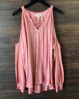 Antique Rose Lace Front Top