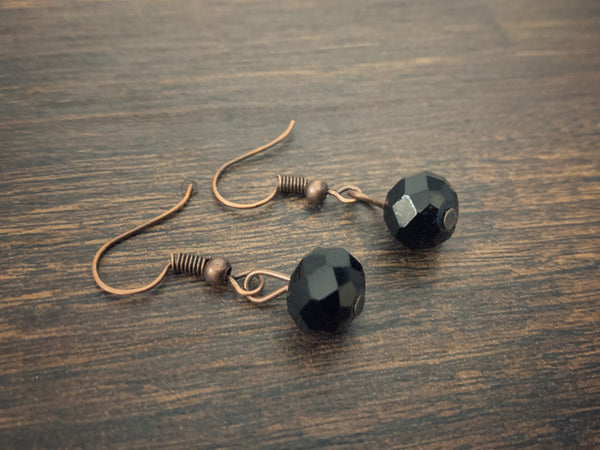 Black Minimal Earrings