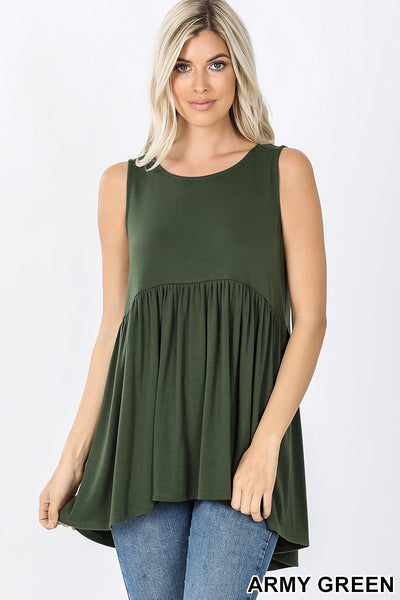 'Say It Best' Army Green Tank