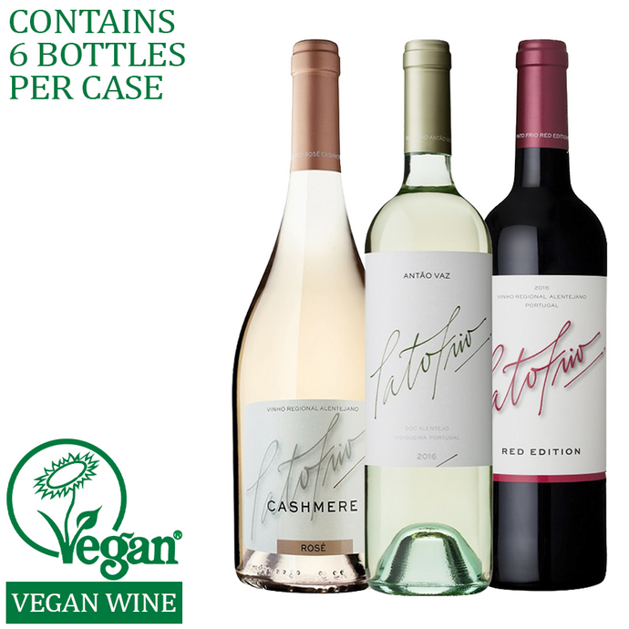 Mixed cases available for red, white, rose and sparkling vegan wines.