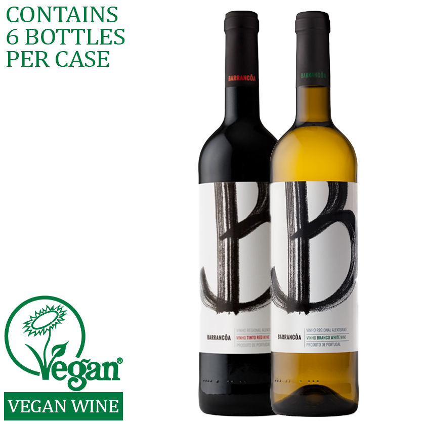 Mixed case red white wine vegan delivery alentejo portugal
