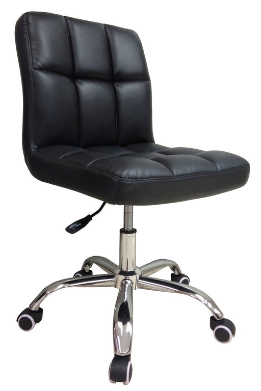 Lowback PU Leather Office Chair, Black