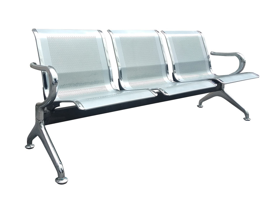 3 Seater Public Bench Seating, Steel