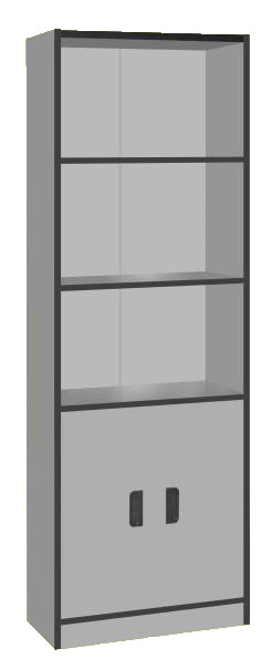 Bookcase, Light Grey Color