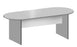 Oval Laminated Meeting Table in Panel Legs for 4-6 Pax, Light Grey Finish