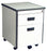 2 Drawer Mobile Pedestal in Light Grey Laminated Finish with Central Lock, Flush Handle