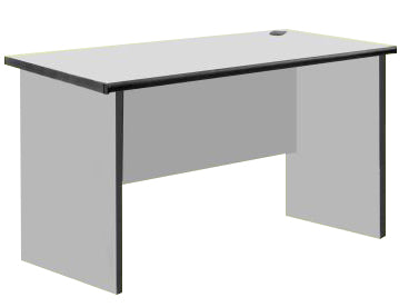 Side Table with PVC Edge, Light Grey Color
