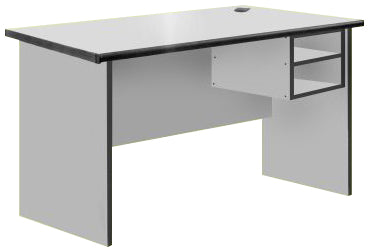 Office Typing Table in Light Grey