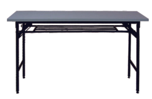 Folding Training Table with Shelf, Light Gray Top, 1200 mm Length
