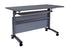 Mobile Flip Top Training Table with Shelf, Light Gray Top, 1500 mm Length