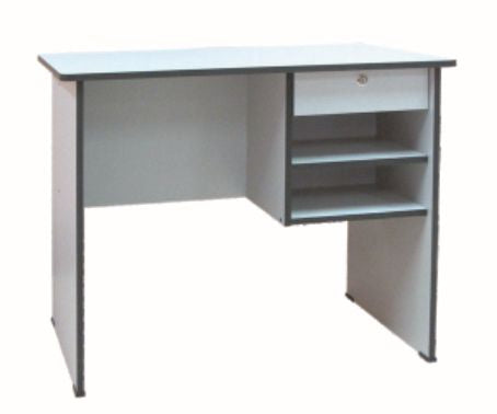 Side Table with Pull-out and Open Drawer