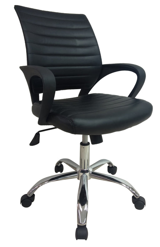 Midback PVC Leather Office Chair with Armrest