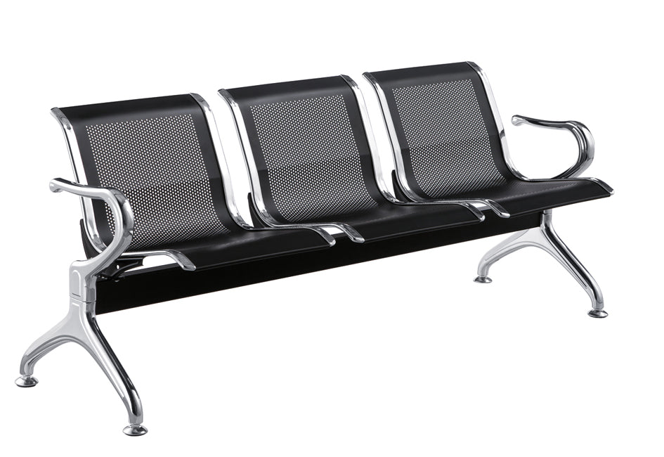 3 Seater Waiting Gang Chair, Steel