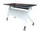 Mobile Flip Top Training Table with Shelf, 1800 mm Length