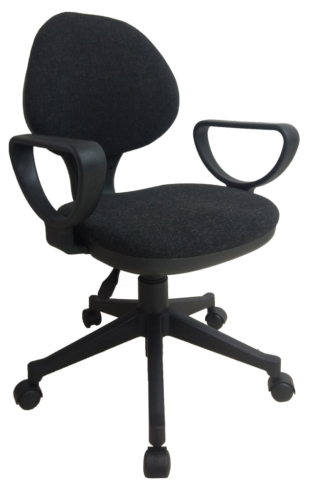 Midback Fabric Swivel Task Office Chair with Armrest