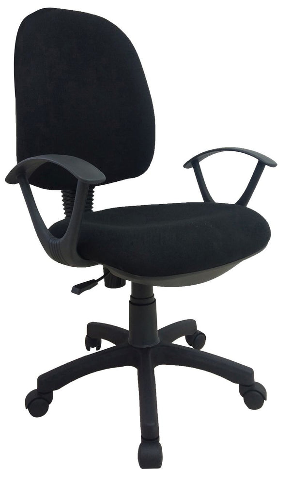 Midback Fabric Swivel Task Office Chair With Arm
