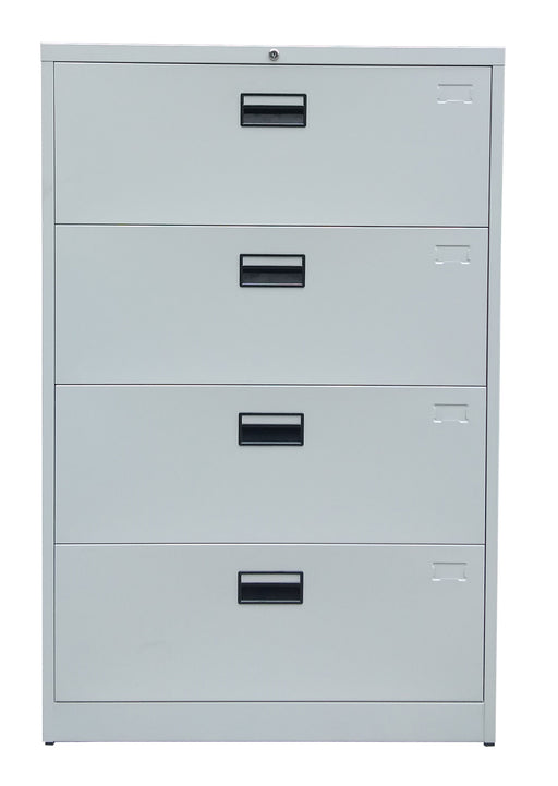 4 Drawer Steel Lateral Filing Cabinet, Light Gray