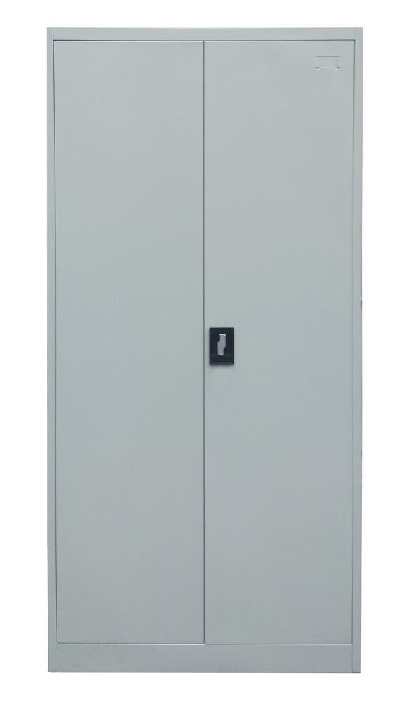 2 Door Steel Storage Cabinet with Five Shelves, Light Gray