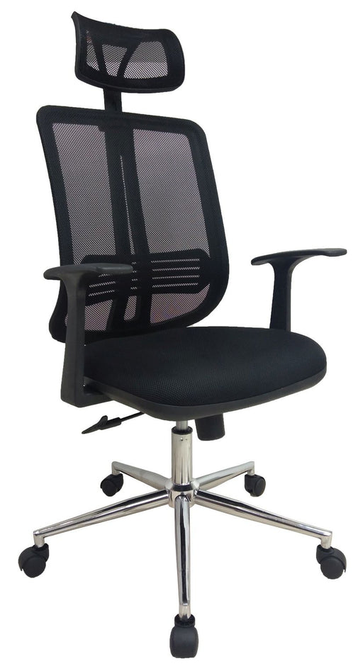 Midback Mesh Managerial Ergonomic Chair with Headrest, Mesh Back with Lumbar Support