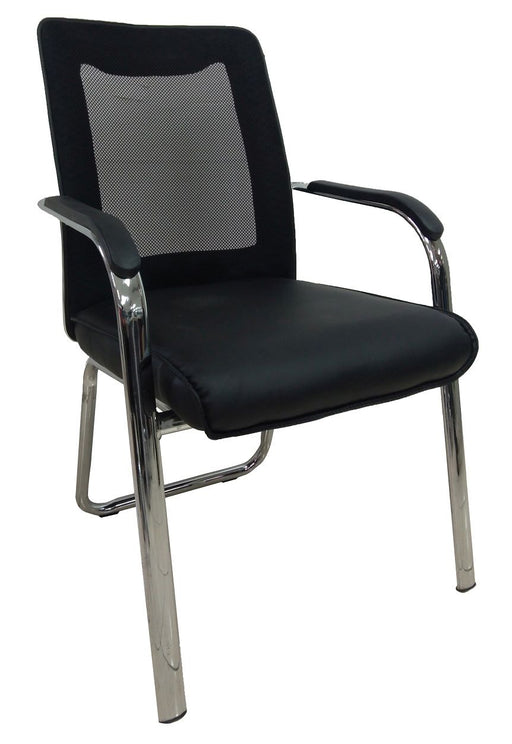 PU Leather Executive Visitor Chair, Mesh Back