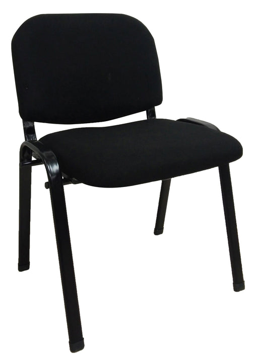 Side Waiting Fabric Chair, Black
