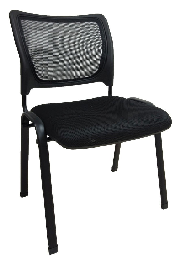 Mesh Visitor Side Chair, Black, 4-legged Chair