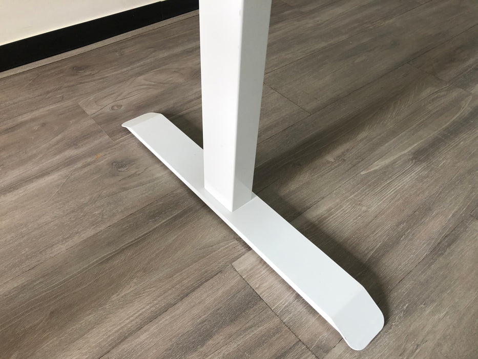 MIA White Manual Hand Crank Standing Adjustable Height Table (150 cm x 70 cm)