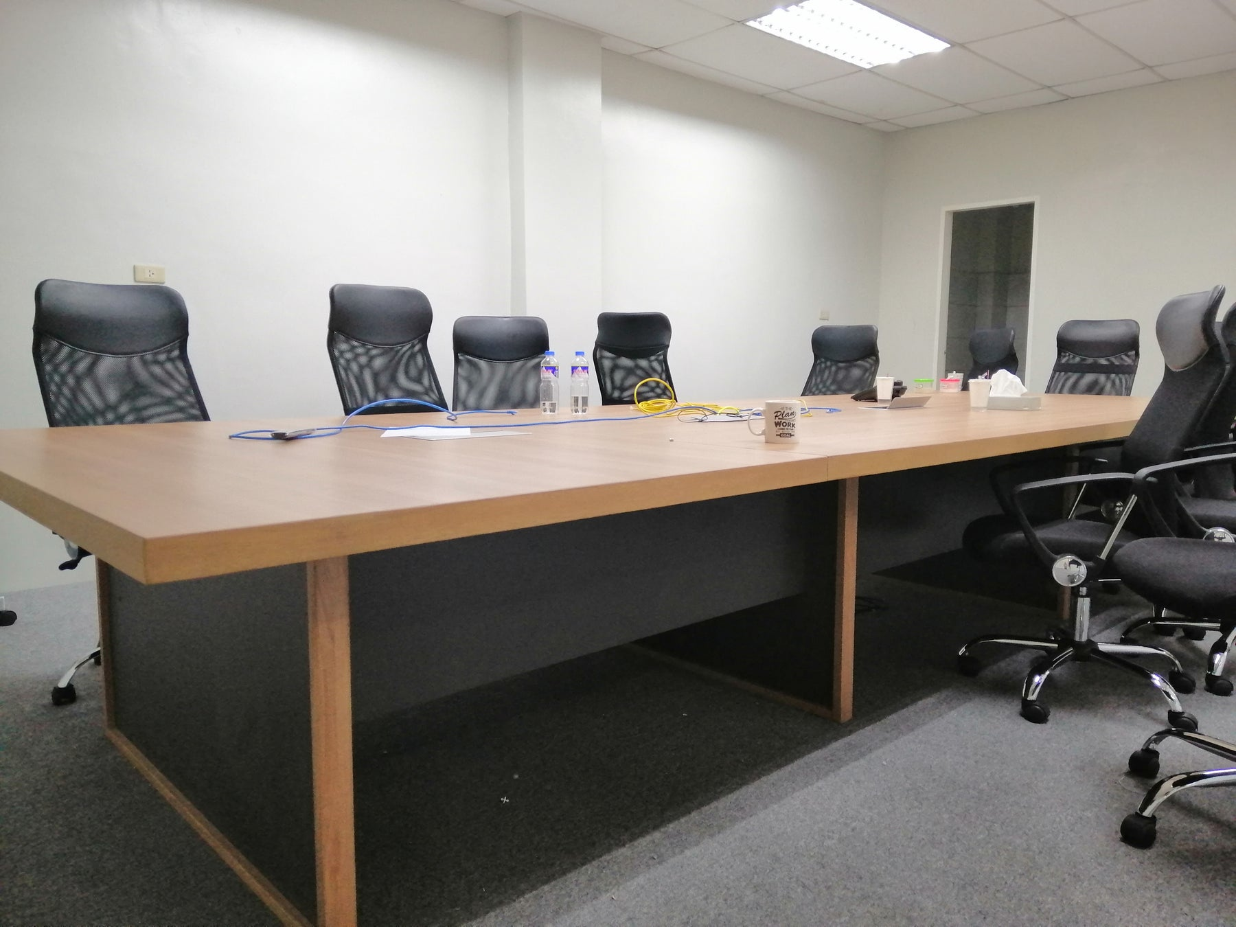 Boardroom Rectangular Conference Table Two Tone, Laminated, Customized
