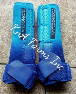 Neon Blue Ombre Royal Blue Iconoclast Front Boots