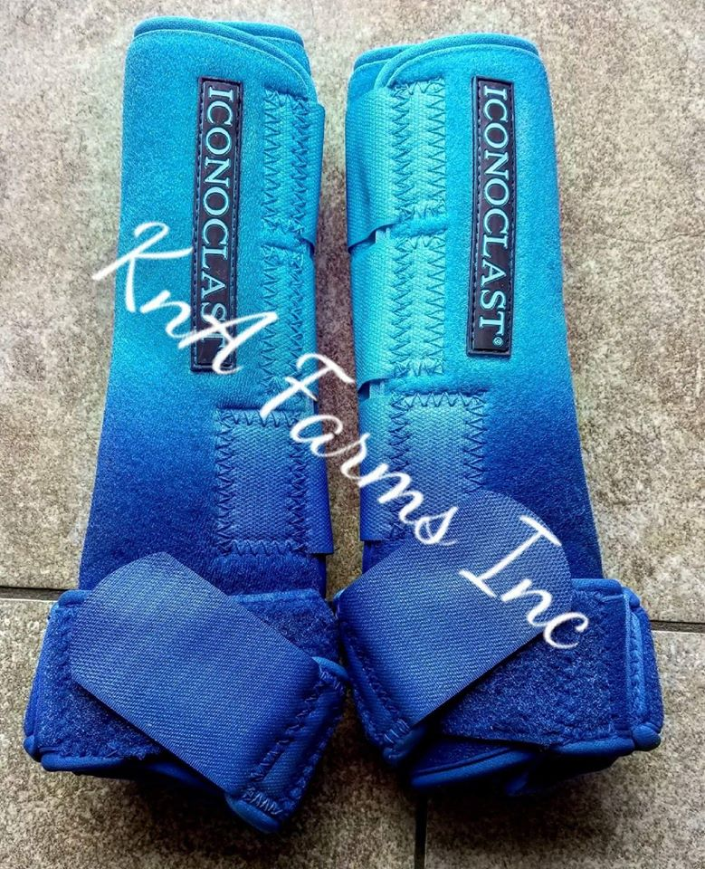 Neon Blue Ombre Royal Blue Iconoclast Hind Boots