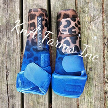 Load image into Gallery viewer, Cheetah Ombre Royal Blue Iconoclast Front Boots