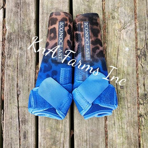 Cheetah Ombre Royal Blue Iconoclast Front Boots