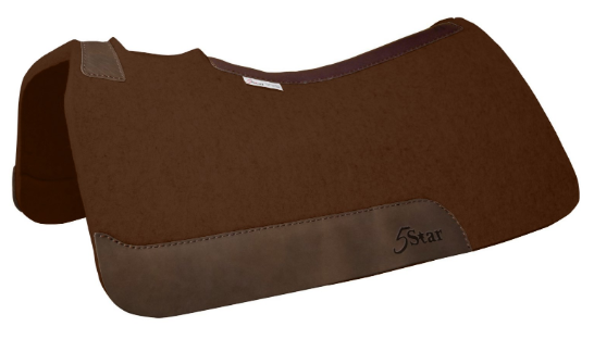 5 Star Dark Chocolate Felt Saddle Pad