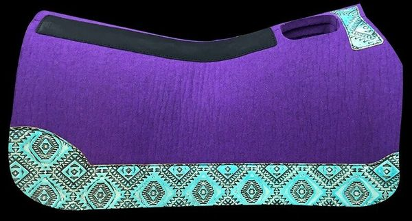 Purple Felt All Around 30x30 Light Turquoise Aztek