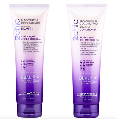 Giovanni 2 chic Hair Ultra Repair Shampoo & Conditioner Blackberry  Coconut Milk