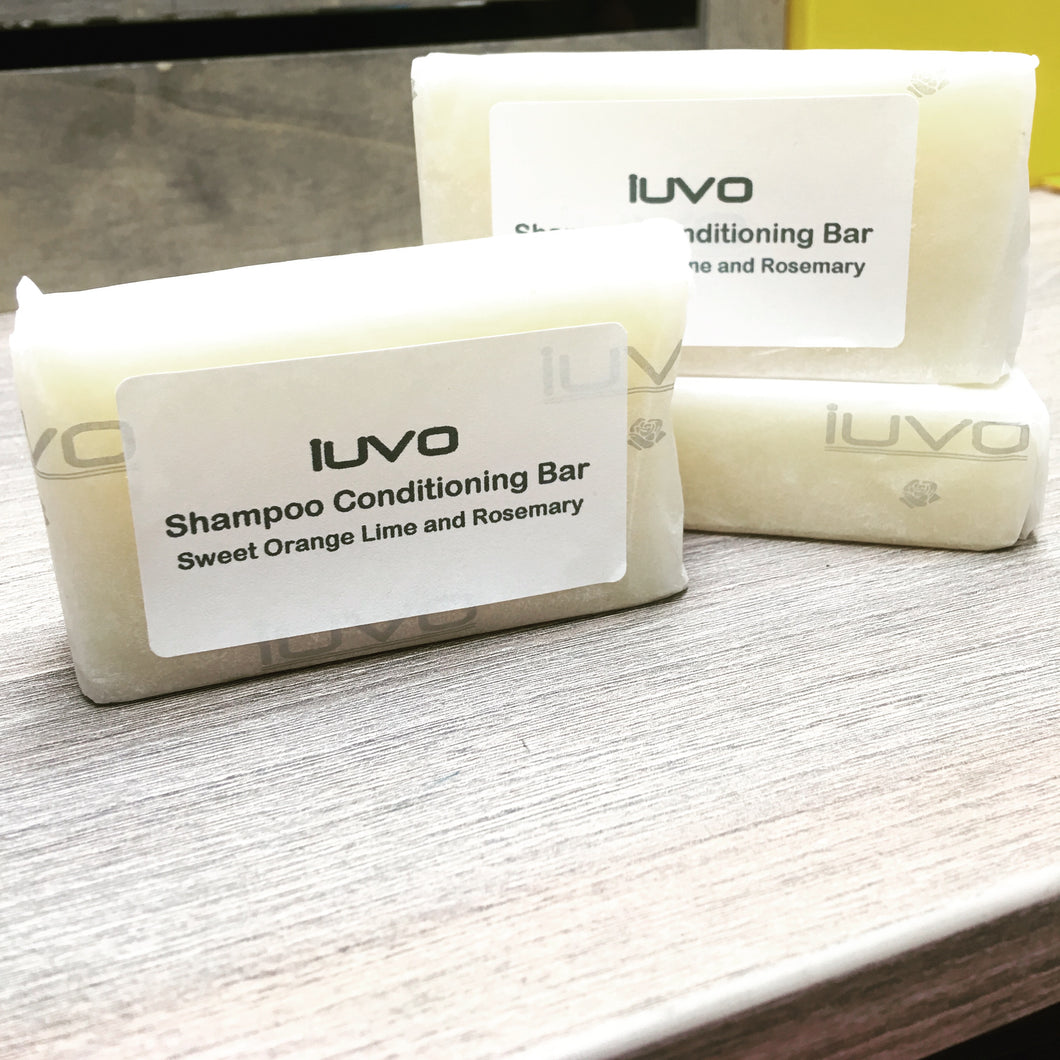 Shampoo Conditioning bar Natural Vegan Plastic Free IUVO